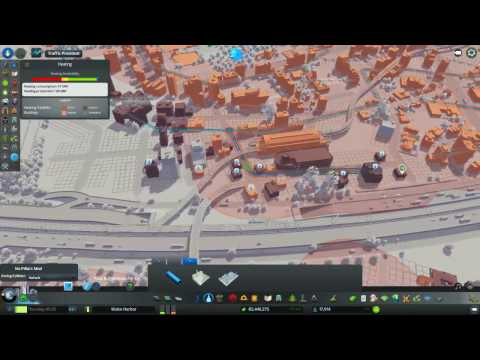 Cities: Skylines Ep 3 Wake Harbor - Tram Construction