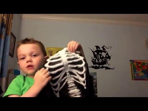 My new skeleton costume!!! Toy Reviews by AJ from New Jersey