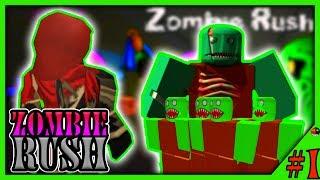 NOOB VS ZOMBIE HORDE?! Roblox Zombie Rush #1