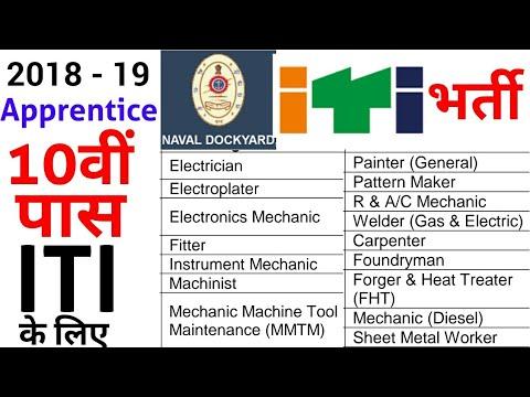 ITI Naval Docyard Apprentice | Fitter/Electrician/Welder/Surveyor/Draughtsman/R&AC/Diesal Mechanic