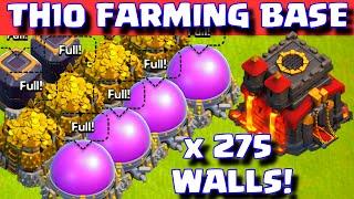 Clash of Clans Town hall 10 Farming Base 275 Walls ILLUMINATI LAYOUT