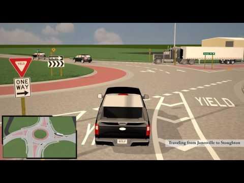 I-39/90 and County N interchange animation