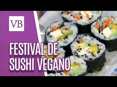 Festival de Sushi Vegano - Você Bonita (26/06/18)