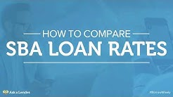 How to Compare SBA Loan Rates | Ask a Lender