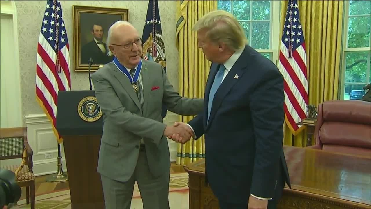 President Trump presents Medal of Freedom to Bob Cousy