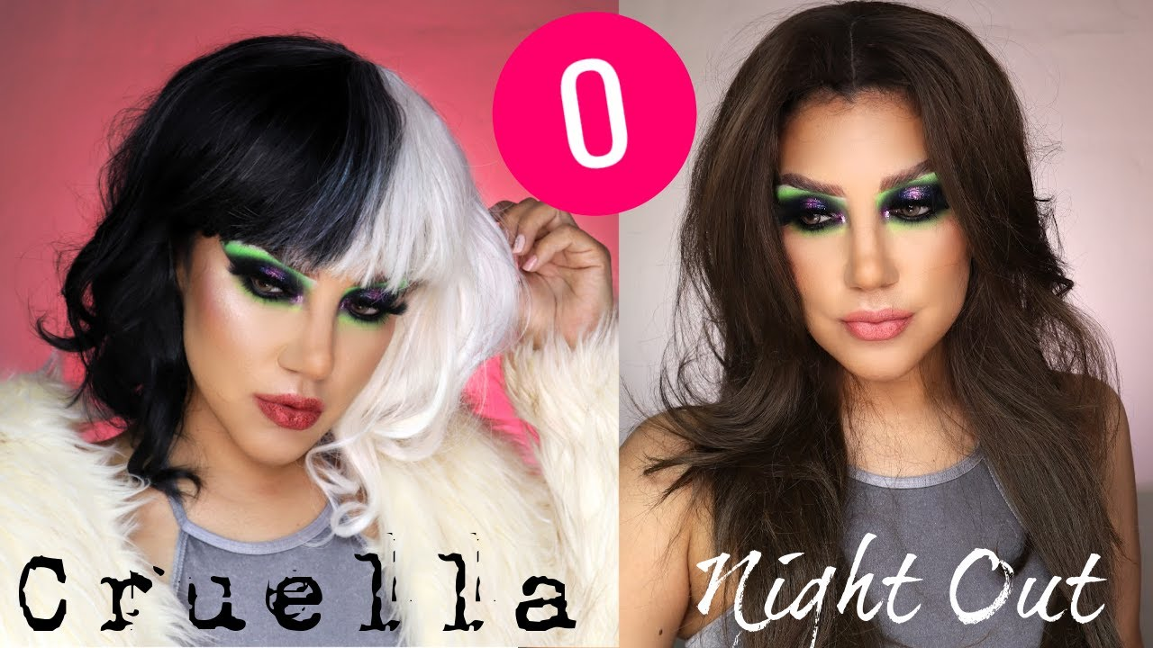 CARNAVAL  O CRUELA de VIL?!  tutorial de maquillaje | auroramakeup