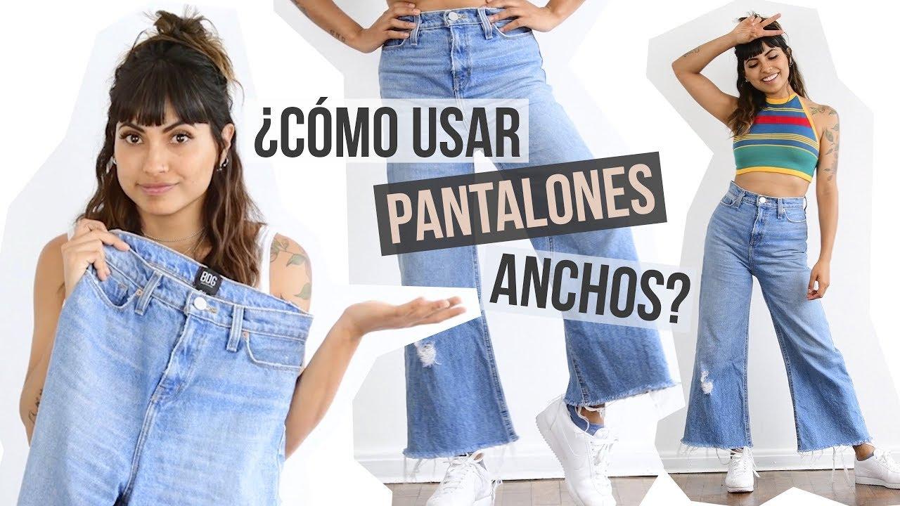 ce3a6dc807 Cómo usar pantalones anchos  - YouTube