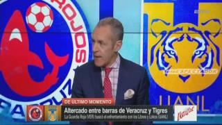 """Batalla campal en las tribunas del Luis """"Pirata"""" Fuente despues del VERACRUZ vs TIGRES - Fut Pic"""
