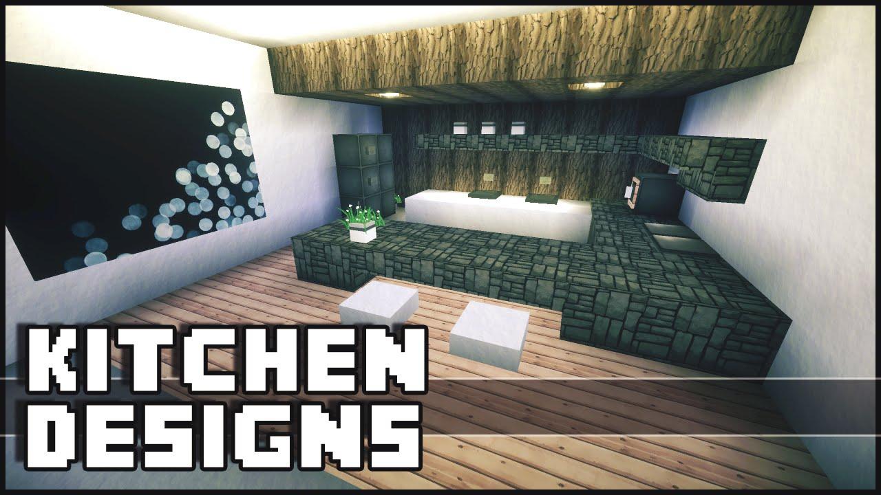 minecraft - kitchen designs & ideas - youtube