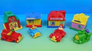 1993 McDONALDLAND VILLAGE SET OF 4 McDONALD'S HAPPY MEAL KIDS TOYS VIDEO REVIEW