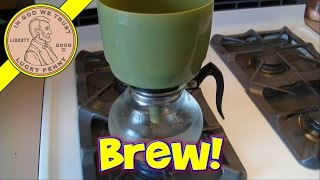 Vintage Cory Vacuum Coffee Pot Maker Brewing a Cup of Coffee Demo