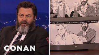nick offermans book features a homoerotic chris pratt comic conan on tbs