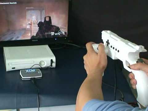 XCM XFPS Fire Light Gun For PS3 With Cross Fire Converter