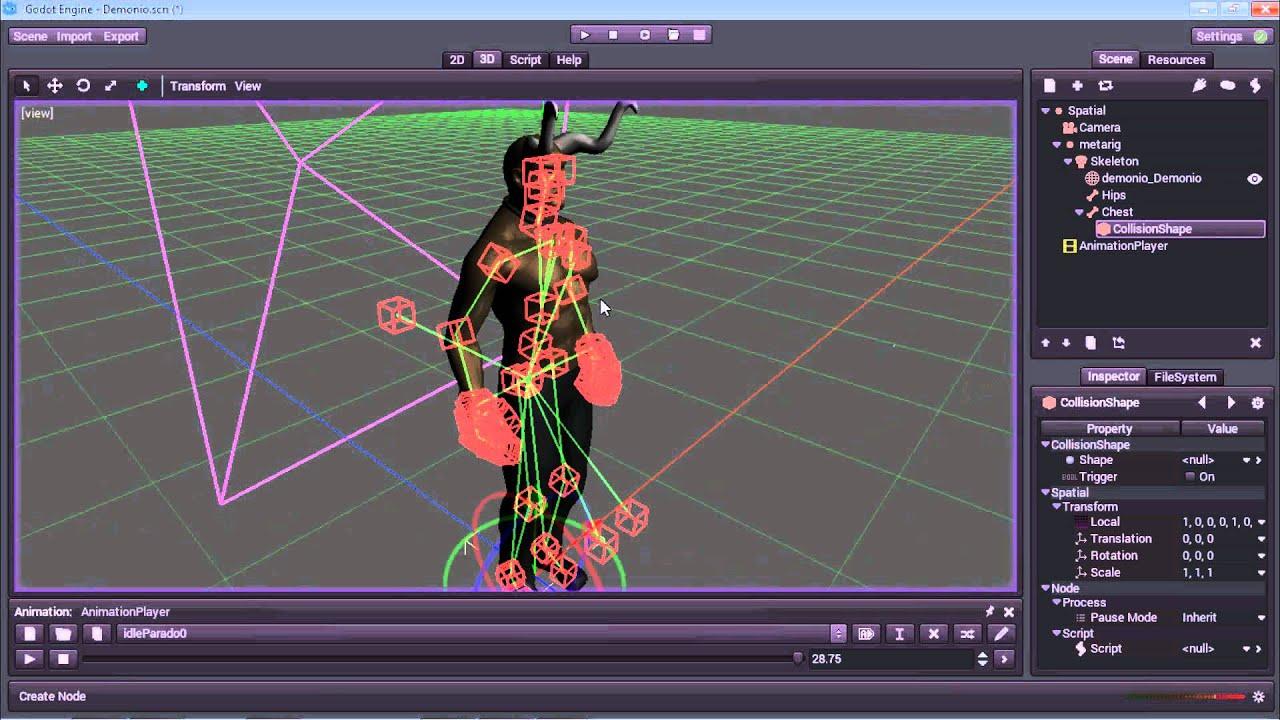Godot engine 3D v1
