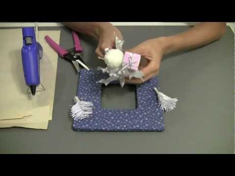 how to make a fabric frame