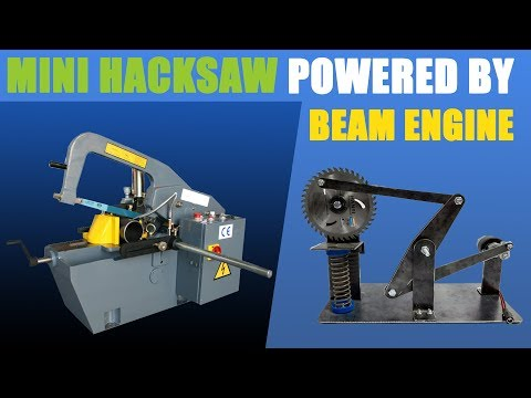 how-to-make-mini-hacksaw-powered-by-beam-engine-mechanical-mini-project