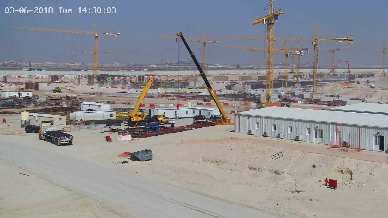 Kuwait International Airport New Passenger Terminal Construction site Cam3  30/04/2018
