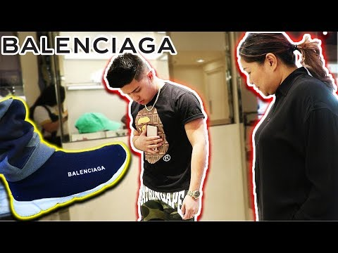 WEARING FAKE BALENCIAGAS TO THE BALENCIAGA STORE!