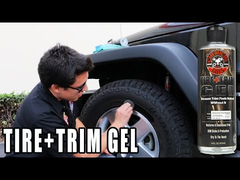 How To Restore Faded Plastic and Rubber Trim - Tire and Trim Gel - Chemical Guys