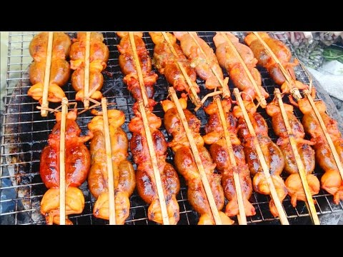 Asian Street Food | Khmer Street Food - Grilled Fish, Grilled BBQ Frog, Balut, Fried Noodle (Part 2)