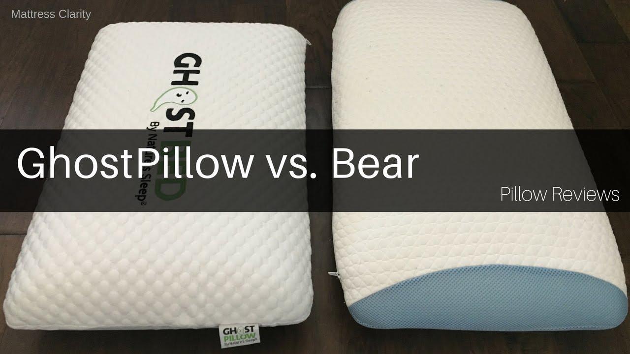 brand new 2a279 2ce02 Pillow Reviews: GhostPillow vs. Bear - Mattress Clarity