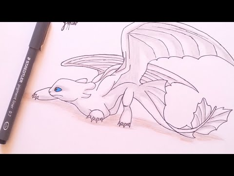 Drawing Light Fury How To Train Your Dragon Step By Step