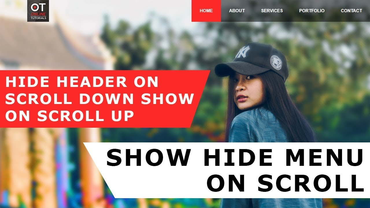 Hide Menu on scroll down show on scroll up - Html CSS And Javascript