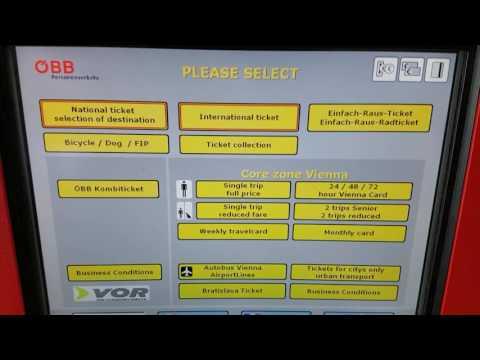 Buy Tickets Machine Vienna Public Transport