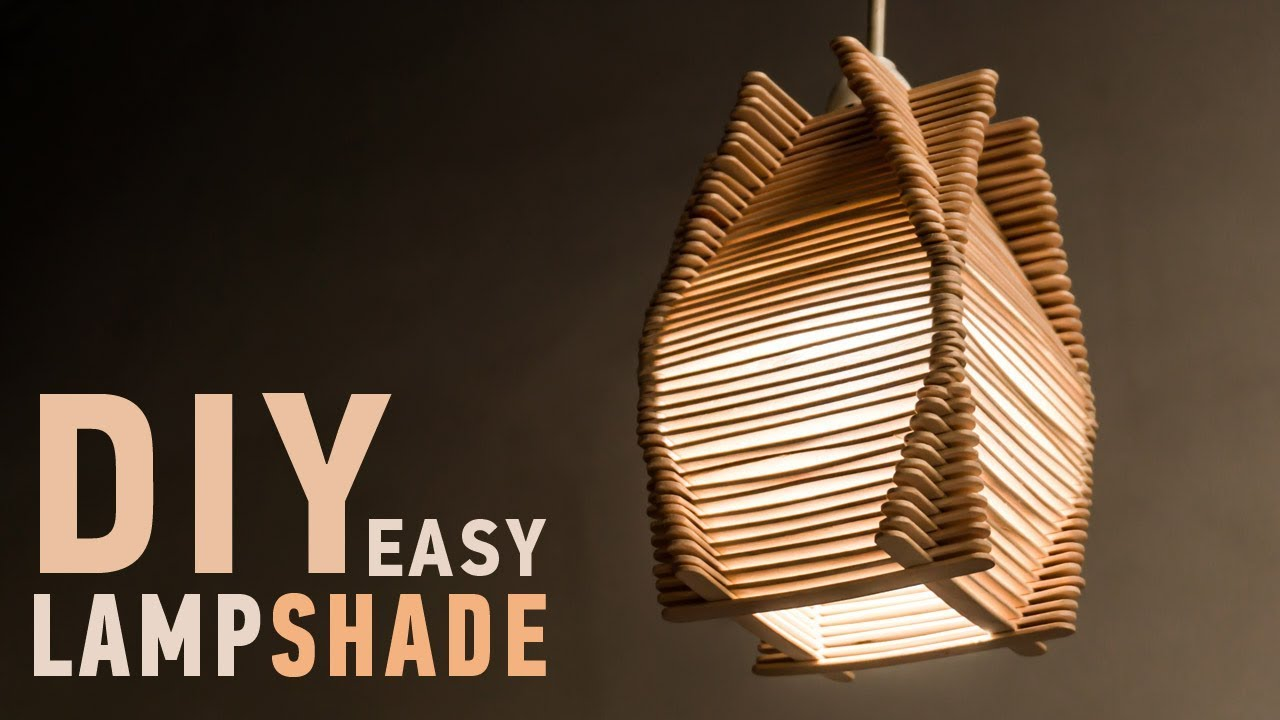 Easy DIY Ideas For Homedecor Making Craft Stick Lampshade