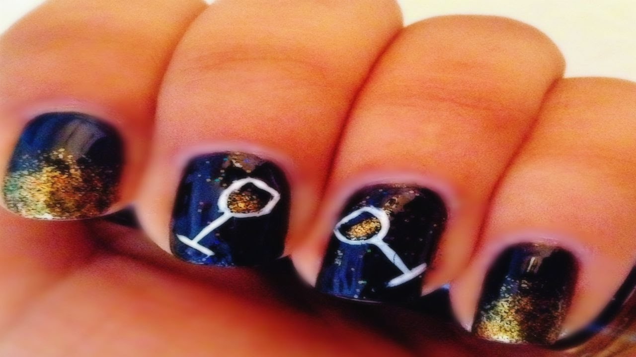 2016 New Years Nail Art - YouTube