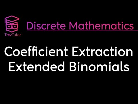 [Discrete Math 2] Coefficient Extraction and Extended Binomial Theorem