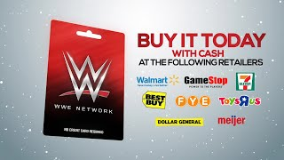 WWE Network Gift Card... Give the Perfect Gift This Holiday Season