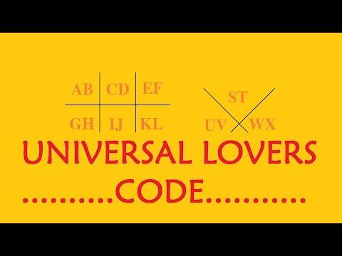 LOVERS CODE (SECRET LETTERS CODING FOR LOVERS)