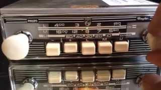 Chromelondon.com PHILIPS SPYDER IVORY VINTAGE CHROME CLASSIC CAR RADIO AND MP3