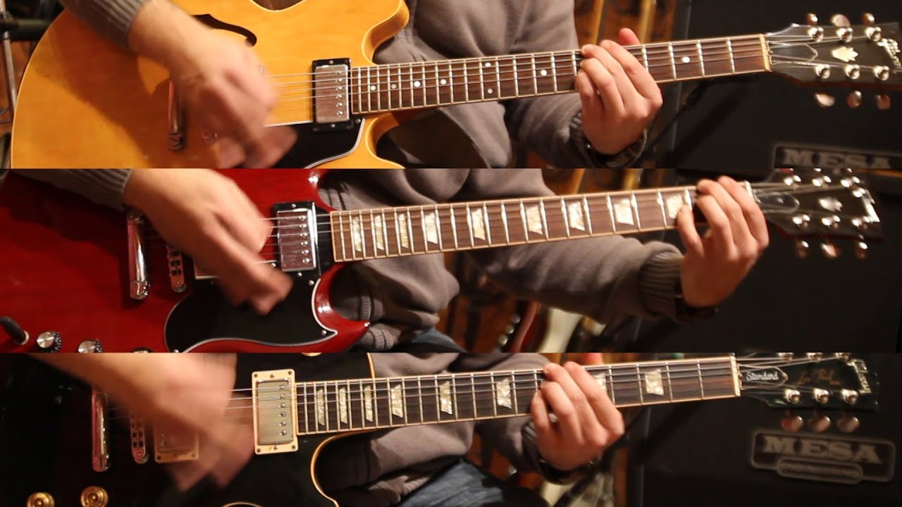 gibson es335 vs sg vs les paul with loop control youtube for
