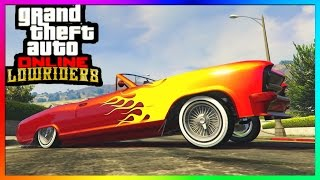 "GTA 5 Online ""LOWRIDER DLC"" - ""Albany Buccaneer"" All Paint jobs, Hydraulics & Interiors!"