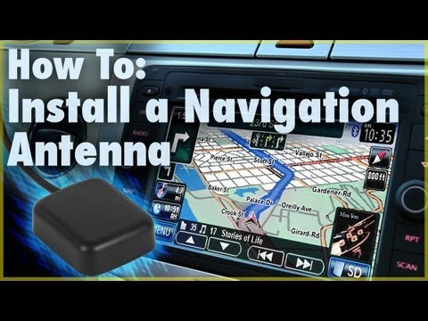 How To Install A Gps Navigation Antenna Car Stereo Accessory Car Audio  Youtube