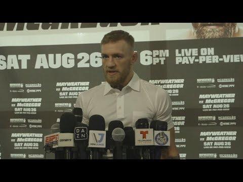 Mayweather vs McGregor: Conor McGregor Media Day Scrum
