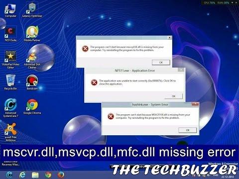 How To fix msvcr100.dll msvcp110.dll msvcr110.dll msvcp100.dll mfc100.dll | 0xc000007b error(Solved)