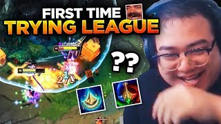 TFT STREAMER TRIES LEAGUE FOR THE FIRST TIME (not actually) | League Of Legends