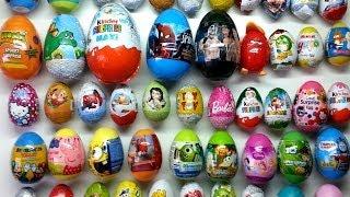 50 surprise eggs kinder surprise maxi plastic eggs disney zaini spiderman planes zhu zhu pets