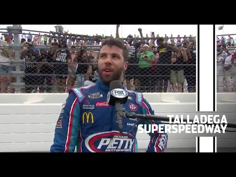 Wallace with fans after 'Dega: 'You're not going to take away my smile' | Talladega Superspeedway