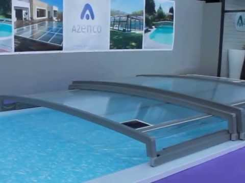 Abri piscine telescopique azenco youtube for Abri piscine azenco