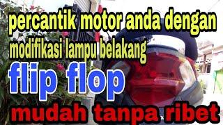 Cara membuat lampu belakang berkedip bergantian/flip flop