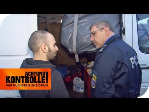 Explosive Ladung: Darf der Transporter weiterfahren? | Achtung Kontrolle | kabel eins