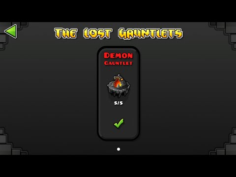 DEMON GAUNTLET (ALL CLEAR) Geometry Dash 2.1 : The Lost Gauntlet Series #8 / ♬ Partition