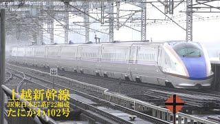 上越新幹線E7系F22編成 たにがわ402号 大宮駅 190715 HD 1080p