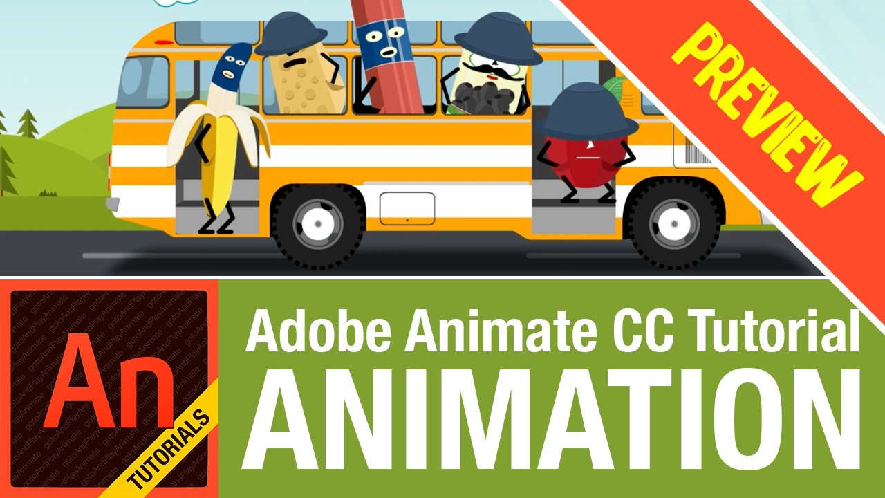 how to create a animated video with animate cc