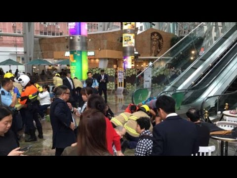 At least 18 injured in escalator incident at Hong Kong shopping mall
