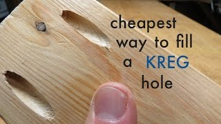 How to ● Cheapest Way to Fill a KREG JIG pocket hole